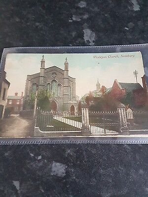 wesleyan church Newbury posted c1900 j.t.nash.local very rare