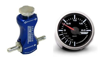 Turbosmart 52mm Boost Gauge BAR and Blue Manual Boost Controller kit