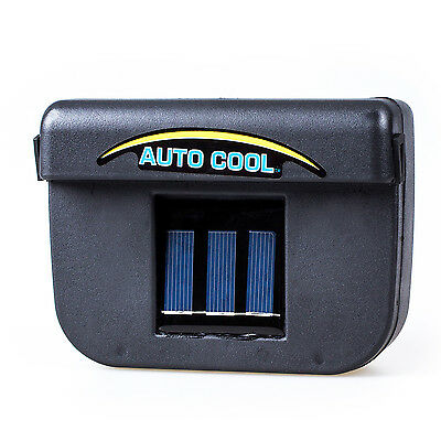 1W Solar Powered Window Fan Ventilator Auto Cool Air Vent For Car Vehicle P2C7