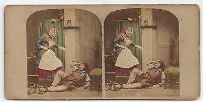 Stereo Stereoview Genre Punch's Stereoscopic Sketches London J. Reynolds 1850er