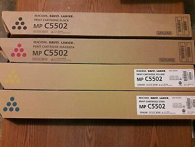 Ricoh MP C5502 / C4502 toner set. (B,M,Y,C)