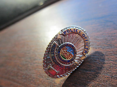 """WEST COVINA CA Silver & GOLD Tone 1"""" Mini Police Officer Badge PIN Tie Tac 1"""""""