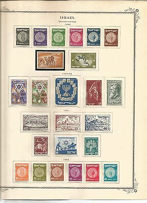Israel stamps-1948 - 1981/82 - virtually complete all mint collection - superb