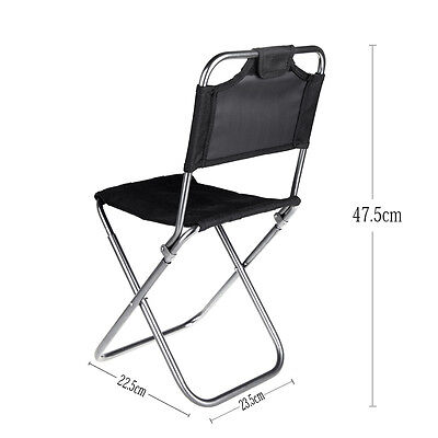 Chair Portable Folding Backrest Camping Fishing Stool Outdoor Seat Beach Mesh