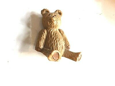 Miniature Teddy Ornament Old Bear