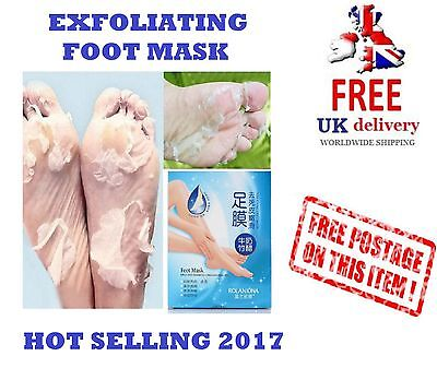 EXFOLIATING FOOT MASK PEEL Removes Dead Skin Feet Baby Soft Milk Bamboo Vinegar