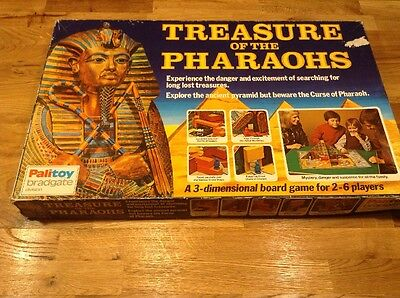 Treasure Of The Pharaohs Board Game Extremely Rare Complete 1974