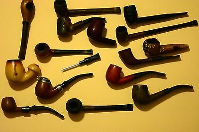 Lot of 15 Different Vintage Tobacco Smoking Pipes Some for Parts