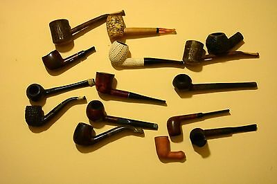 Lot #2 of 15 Different Vintage Tobacco Smoking Pipes Some for Parts
