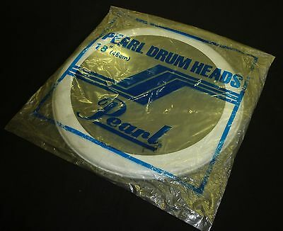 """Pearl 18"""" Clear RC Drum Head Skin for Drum Kit (NOS)"""
