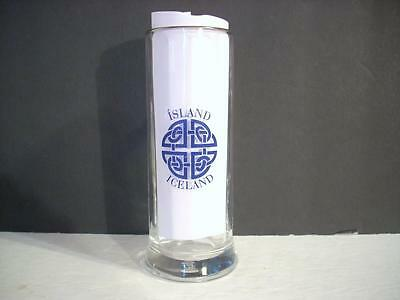 Island Iceland Bockling Tall Thin Glass Stein Mug Celtic Knot (C9)