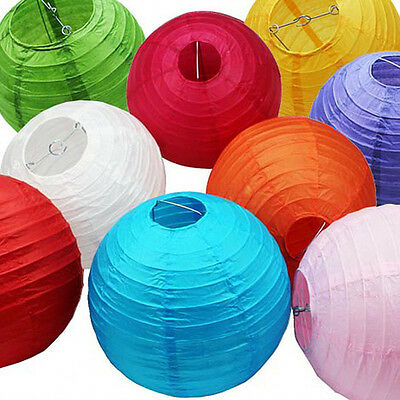 8pc Chinese Paper Lantern Party Venue Hanging Decorations Assorted Colors