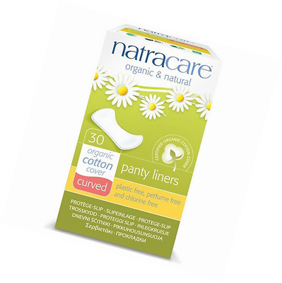 Natracare Curved Panty Liners Pack of 30 Organic Natural Cotton Daily Protection