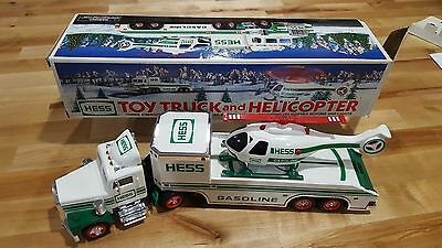1995-Hess Toy Truck with Helicopter