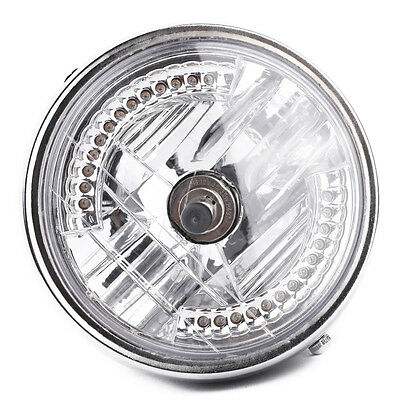 "8 ""Motorrad Halo-Lampe LED-Blleuchte mit H4-Gluehlampe fuer Harley E4W5"