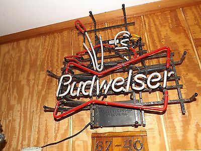 Budwieser Neon Sign Vintage - Duck Hunting- Early 1950S Or Late 1940's