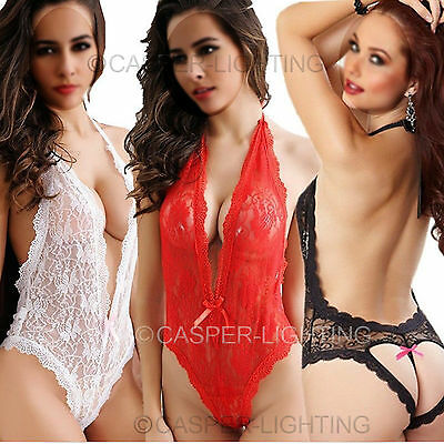 Sexy/Sissy Women Lace Lingerie Babydoll G-String Thong Nightwear Small to XLarge