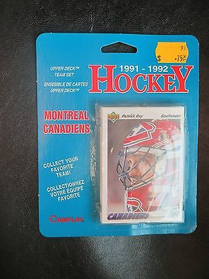 Hockey Cards Montreal Canadians team set 1991-2 unopened Patrick Roy