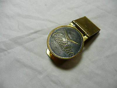 Cadillac Original Rare Vintage Gold color Tone Money Clip $ catillac cadilac
