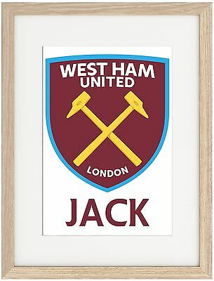 West Ham United A4 Poster Name Personalised Premier League Payet Zaza Noble