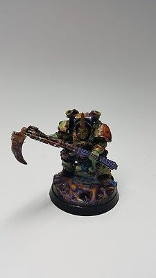 Warhammer 40K Painted Chaos Space Marines Typhus Herald of Nurgle