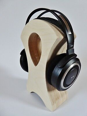 Headphones stand Holder Rack hanger Display birch wood Grado AKG Sony wooden