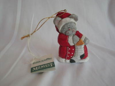 Eddie Walker Christmas Mouse Ornament Midwest of Cannon Falls