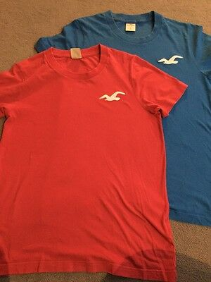 Two Boys Mens Hollister T Shirts Size S Small