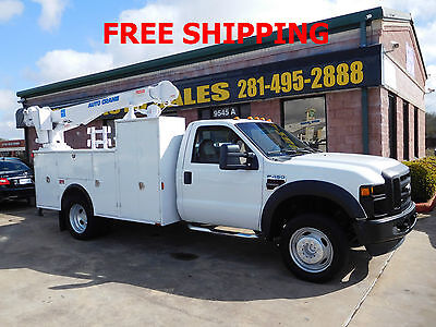 2008 Ford F-450 Super Duty Utility Service Truck With Auto Crane 2008 Ford F-450 Super Duty Utility Service Truck With 5000lb  Auto Crane