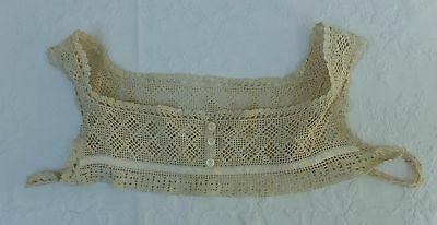 Lingerie Camisole Under Garment Bust Bodice Antique Lace 1910 20's Edwardian Bra