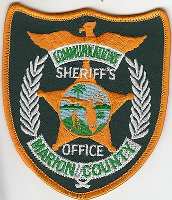 Marion County Sheriff's Office Communications Florida Fl Police Patch