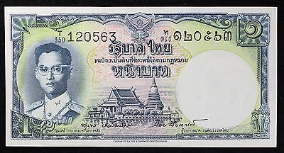 1955 1 Baht Thailand Banknote P 74 T 350 Extremely Rare Signature Uncirculated