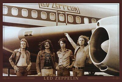 Led Zeppelin airplane  Poster 24 x 36