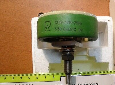 Power Rheostat 330 Ohm 75 Watt with Palladium contact an-og MEMCOR CP5-37V