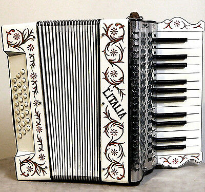 L'italia, Vintage Accordion Jeweled & Hand Painted - Made In Germany, Good Cond