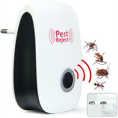 Electronic Pest Reject Magnetic Repeller Ultrasonic Anti Mosquito Insect Kill SM