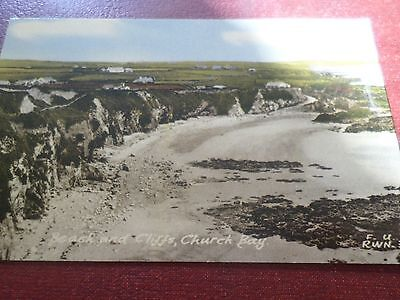 Postcard Beach And Cliffs Church Bay Anglesey