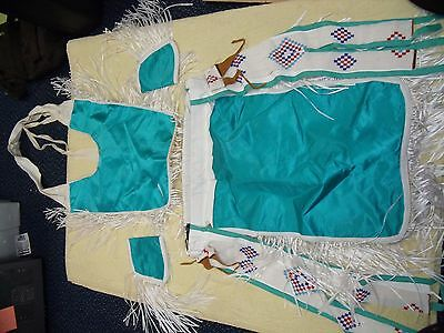 NATIVE AMERICAN Mens  POW-WOW  Outfit Dance,  Sheepskin Beads.  Necklaces