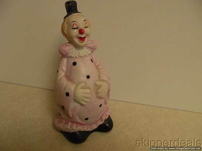 Bisque Pink Dotted Clown Bell Brand New