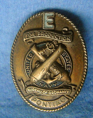 WWII PONTIAC CAR: FOR PRODUCTION Cuff Pin; US Navy; Military Ordinance; Anchor