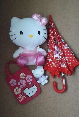Hello Kitty Soft Toy, Umbrella, Carry Bag, Decoration Toy