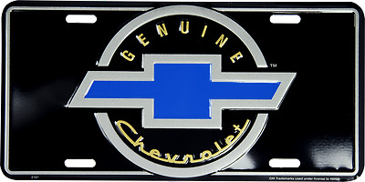 "Genuine Chevrolet Chevy Cars Trucks 6""x12"" Aluminum License Plate Tag"