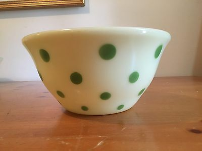 Vintage McKee Green Dots Mixing Bowl 9""