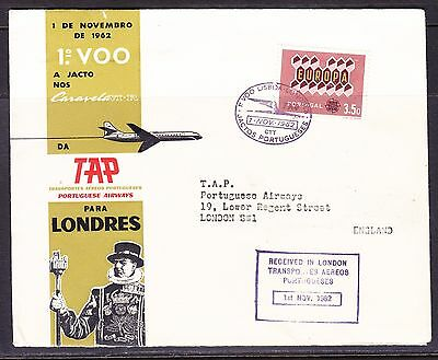 Portugal 1962 TAP Lisbon to London Flight Cover