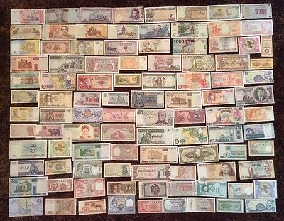 World Banknote Collection. 100 X Different Banknotes. Worldwide Set.