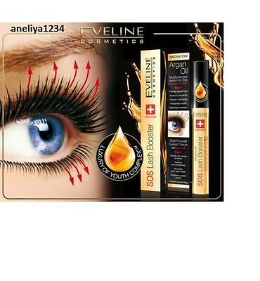 2 X  Eveline SOS Lash Booster With Argan Oil Multi-Purpose Eyelash Serum 5 in 1