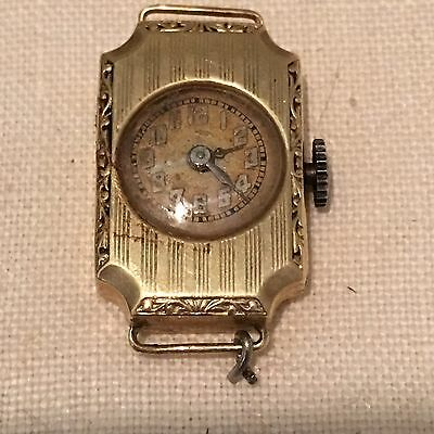 Vintage Art Deco14KT Solid yellow gold Swiss ladies watch 1920's Flapper 1 Of 2