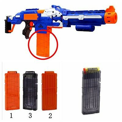 12 Replacement Bullet Darts Clip Magazine Compatible for NERF Toy Gun ACCS
