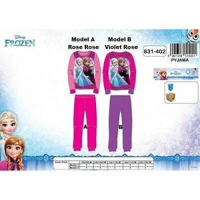 8 ans (128cm) VIOLET rose (Model B) Pyjama LA REINE DES NEIGES Disney NEUFl'unit