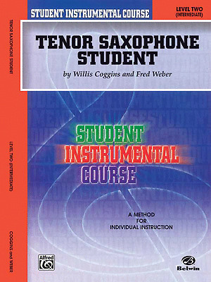 """Student Instrumental Course """"Tenor Saxophone Student"""" Music Book Level 2-New-Sax"""